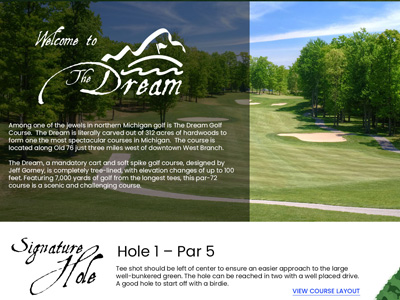 The Dream Golf Club - Responsive Web Design Proposal