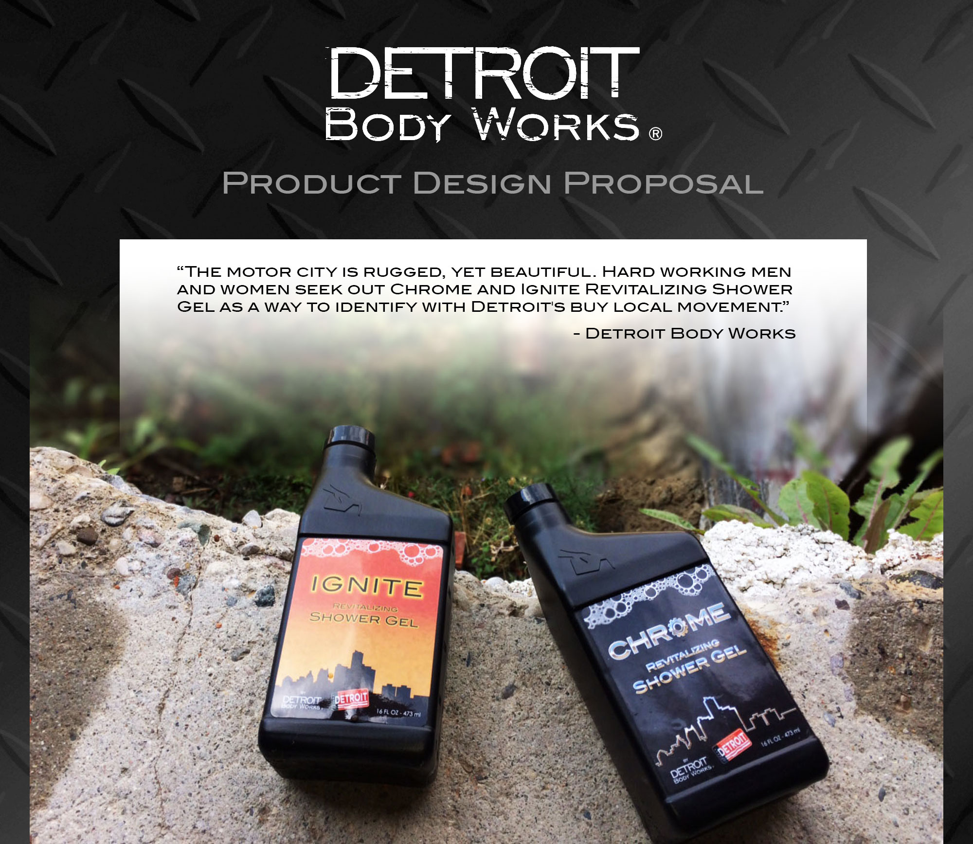 Detroit Body Works - Product Label Graphic Design