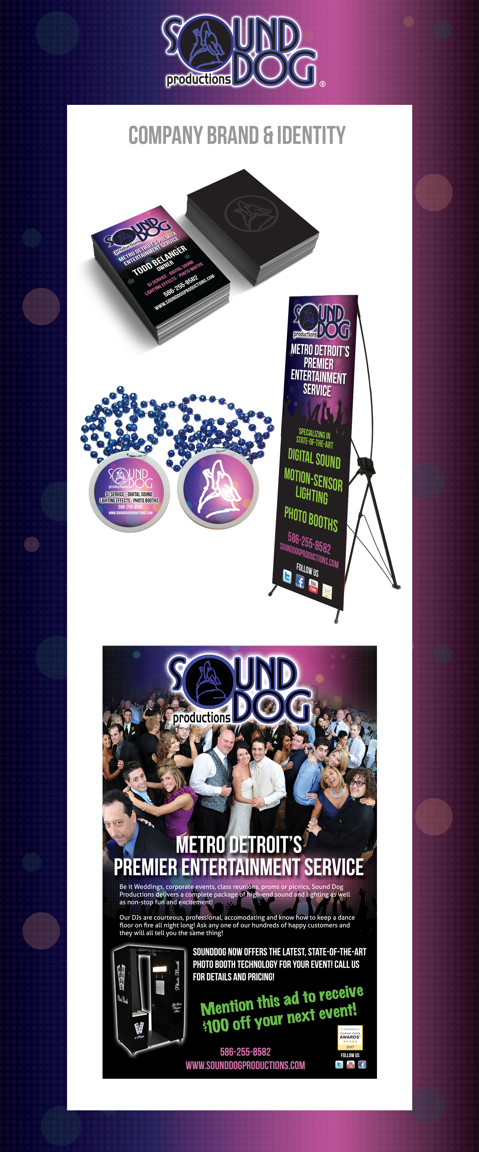 SoundDog Productions - Printed Marketing Collateral