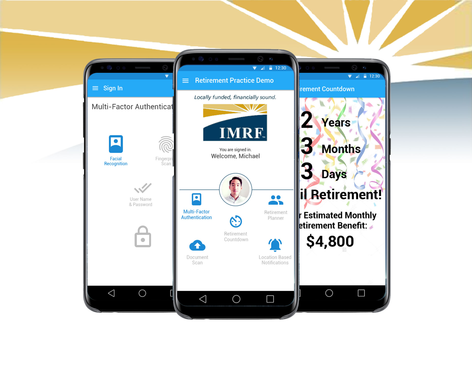 Illinois Municipal Retirement Fund - Native Mobile App Design for Android