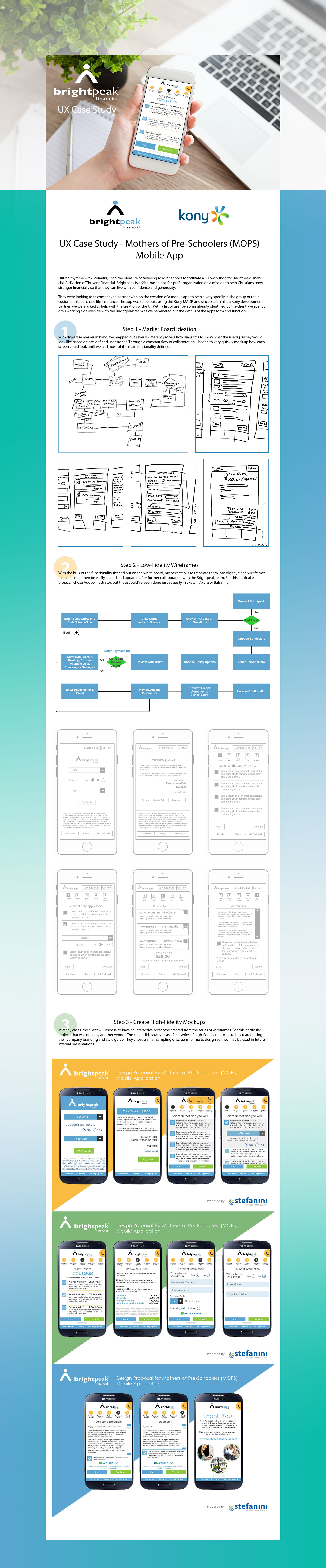 Brightpeak Financial - UX Workflow - Mobile App Design