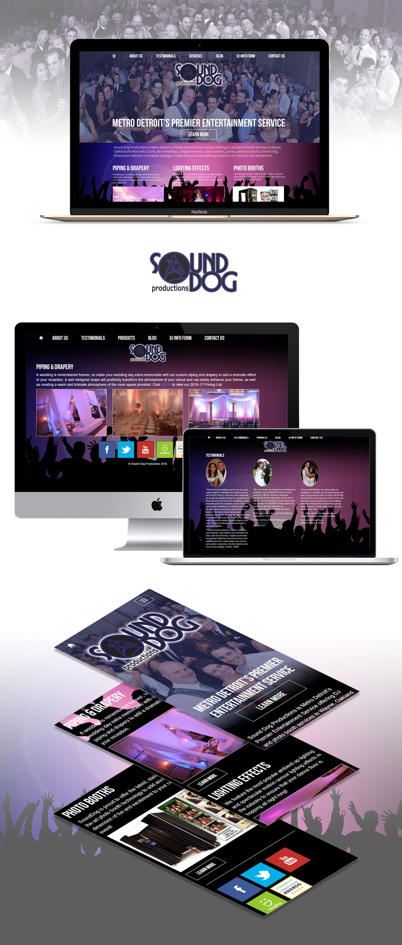 SoundDog Productions - Responsive Web Design Proposal